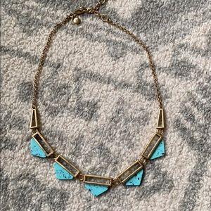 Turquoise and Gold J Crew Necklace